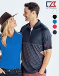 Men's Junction Stripe Hybrid Polo