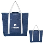 Denim Shopping Tote Bag - MOTTO