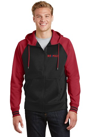 Men's Sport-Wick® Varsity Fleece Full-Zip Hooded Jacket