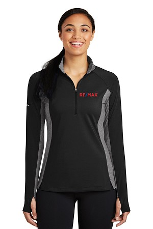 Ladies Sport-Wick® Stretch Contrast 1/2-Zip Pullover
