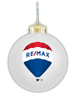 "Holiday 3 1/4"" Round Ornament - RE/MAX"