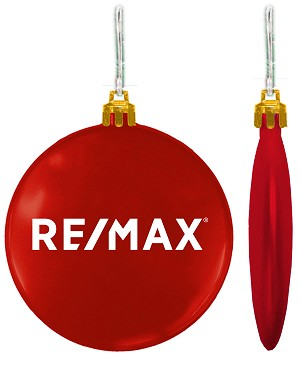 "Holiday 3"" Flat Shatterproof Ornament - RE/MAX"