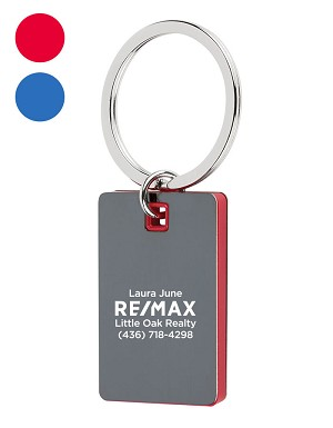 Color Block Mirrored Key Tag - Personalized
