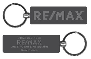 "RE/MAX Silver Keychain (2.75"") - Personalized"