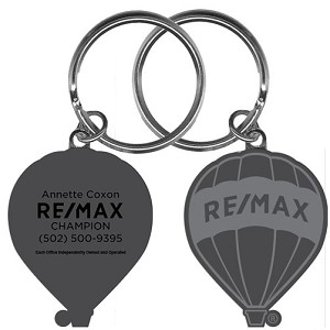 "RE/MAX Silver Balloon Keychain (1.75"") - Personalized"