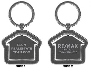 "RE/MAX Rotating House Keychain (1.75"") - Personalized"