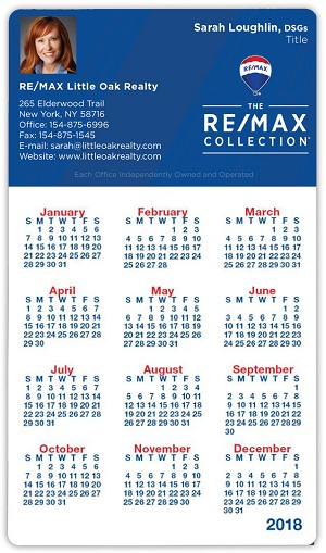 "Calendar Magnet - 4""x7"" Round Corners- 25 mil. - Personalize"