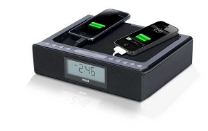 Dual USB Charging Station Clock Radio