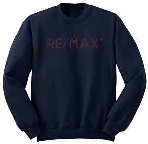 Navy Comfort Zone Sweater - RE/MAX Bling (Red/Blue)