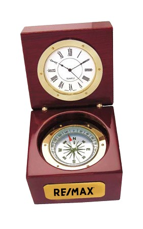Executive Clock and Compass