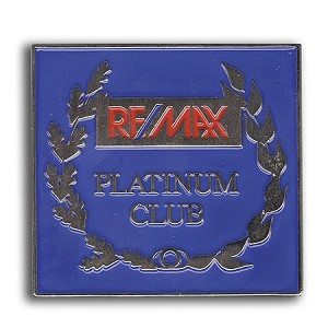 Platinum Club Pin 1 3/8""