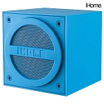 iHome Bluetooth Rechargeable Mini Speaker Cube, Blue