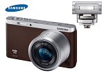 Samsung NX Mini Smart Camera with 9-27mm Lens & Flash, Brown