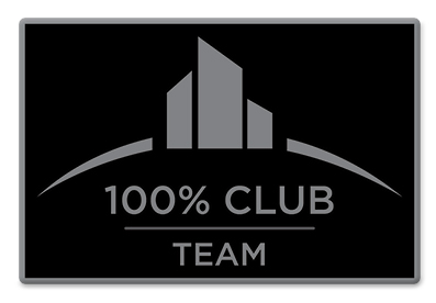 100% Club Team Pin - Black