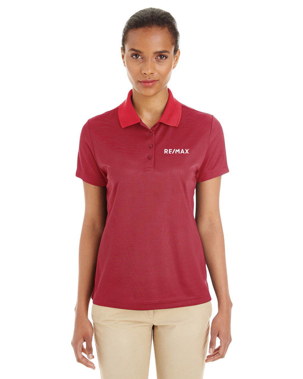 Ladies' Express Microstripe Performance Piqué Polo