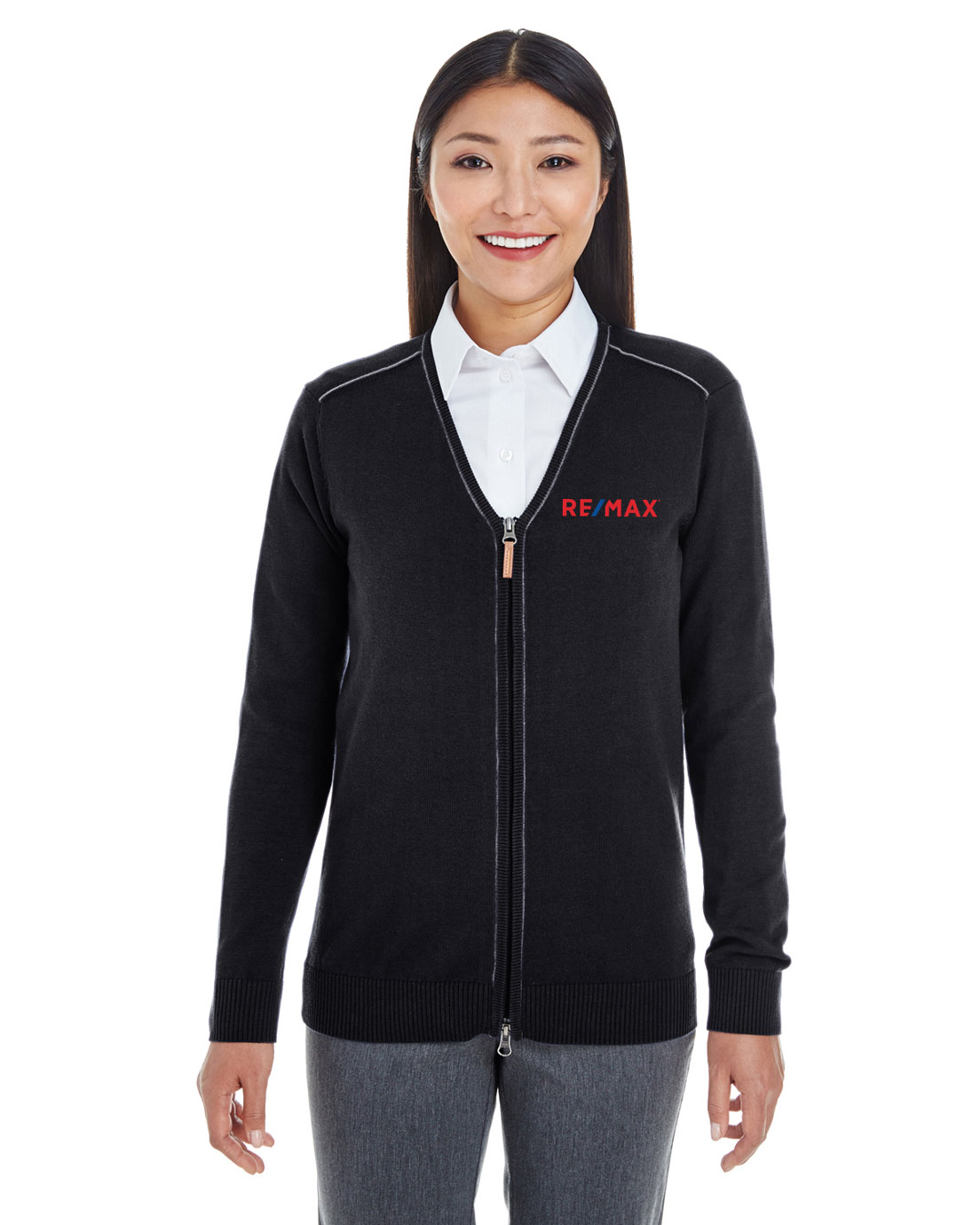 Ladies' Manchester Fully-Fashioned Quarter-Zip Sweater