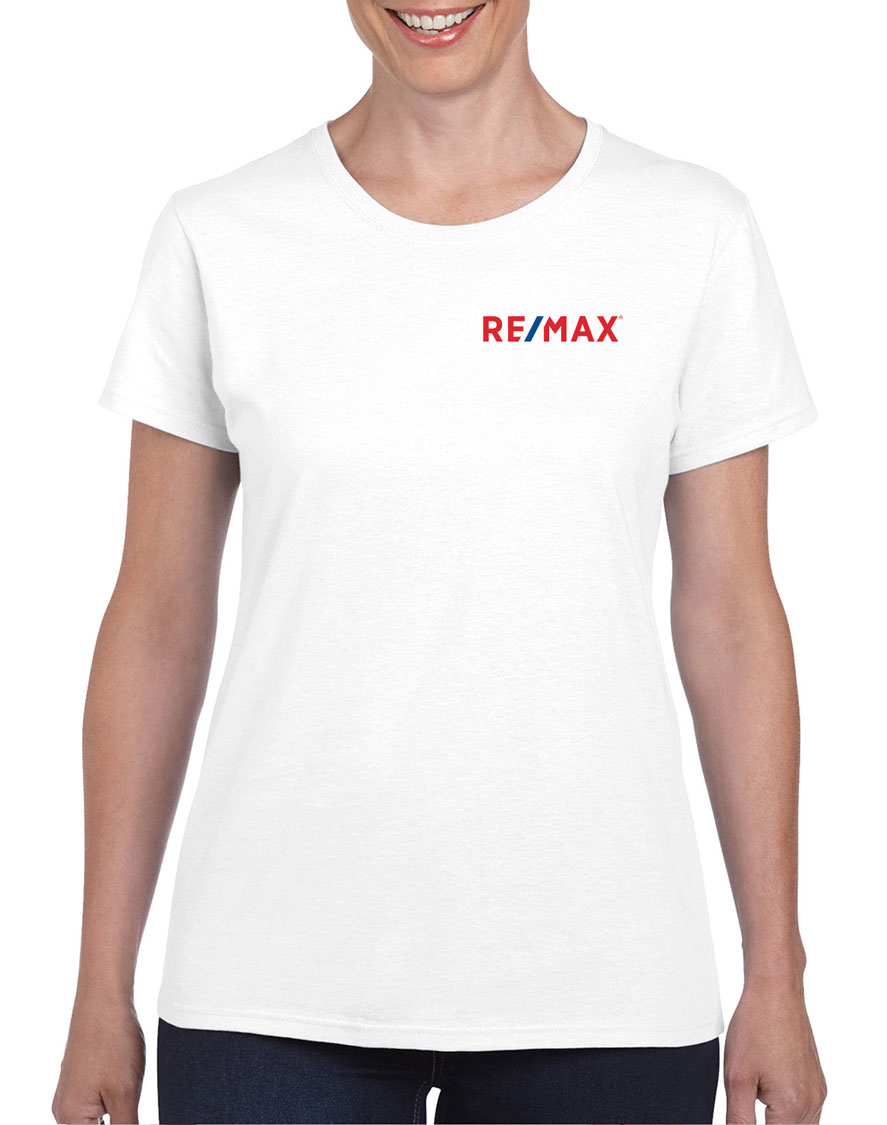 Semi-Fitted Ladies' T-Shirt - White