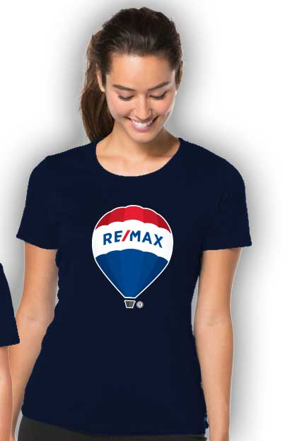 RE/MAX Balloon Ladies' T-Shirt - Navy