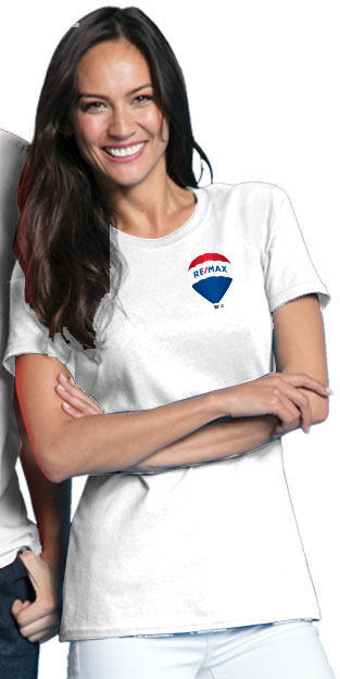 RE/MAX Balloon Ladies' T-Shirt (L/C) - White
