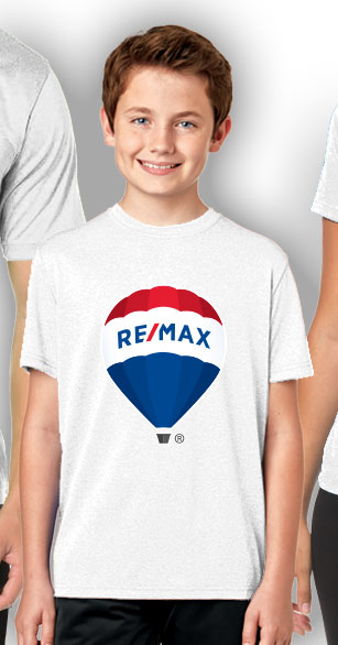 RE/MAX Balloon Youth T-Shirt - White