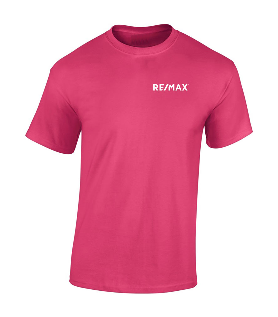 Pink Men's Tshirt - Embroidered