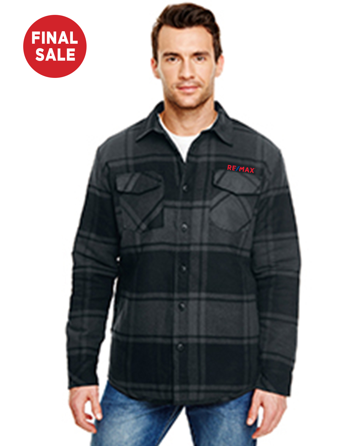 Men's Quilted Flannel Jacket - FINAL SALE
