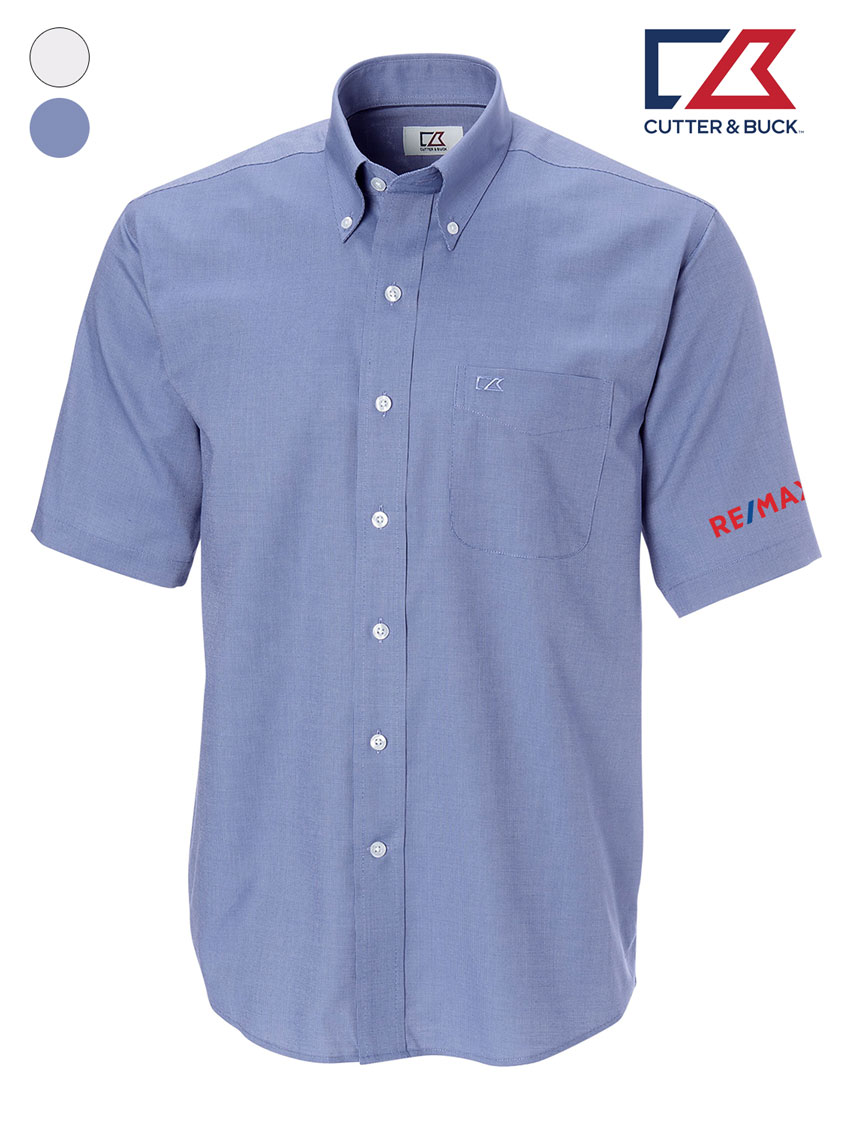 Cutter & Buck Men's S/S Epic Easy Care Nailshead Shirt