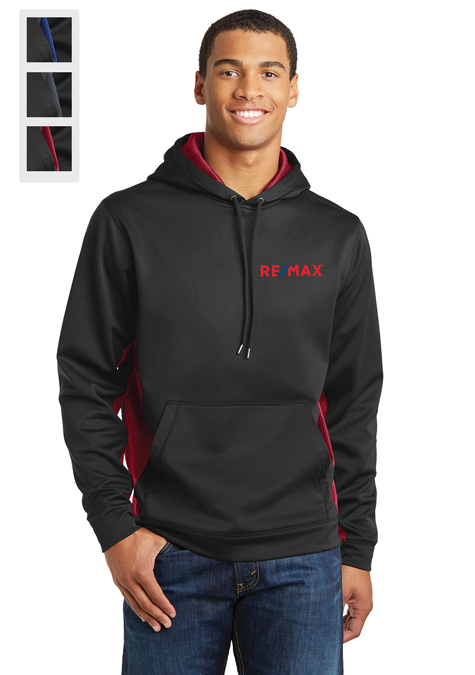 Sport-Tek® Sport-Wick® CamoHex Fleece Colorblock Hooded Pullover