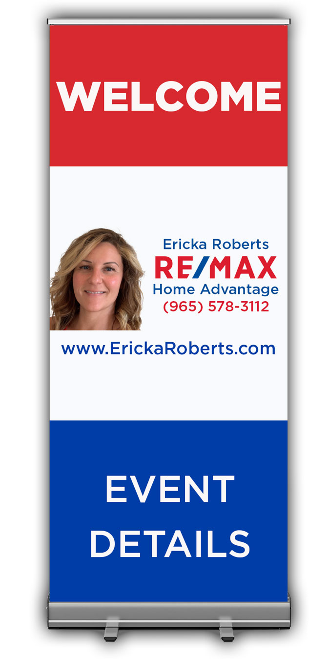 6ft Retractable Roll Up Banner - Personalized
