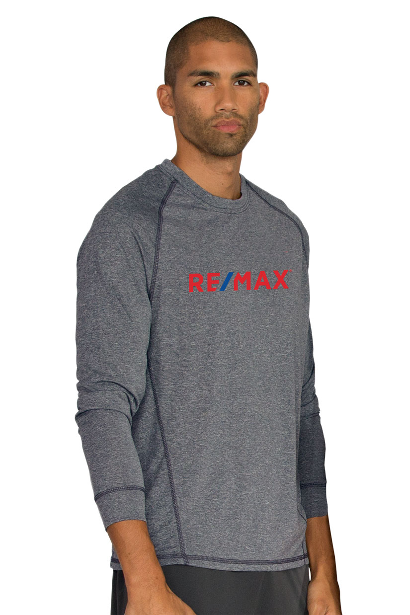 Men's Vansport™ Long Sleeve Melange Tech Tee