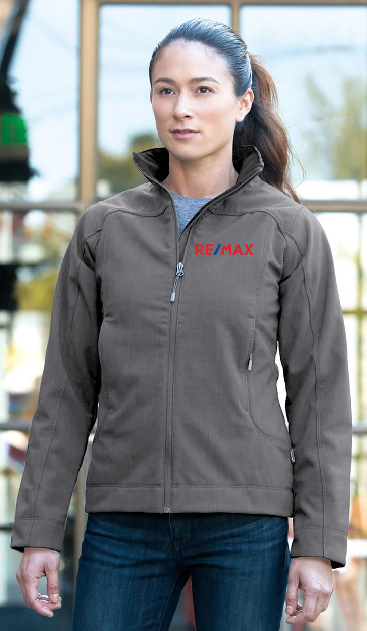 New Premium Collection Ladies' Crosshatch Weave Softshell Jacket