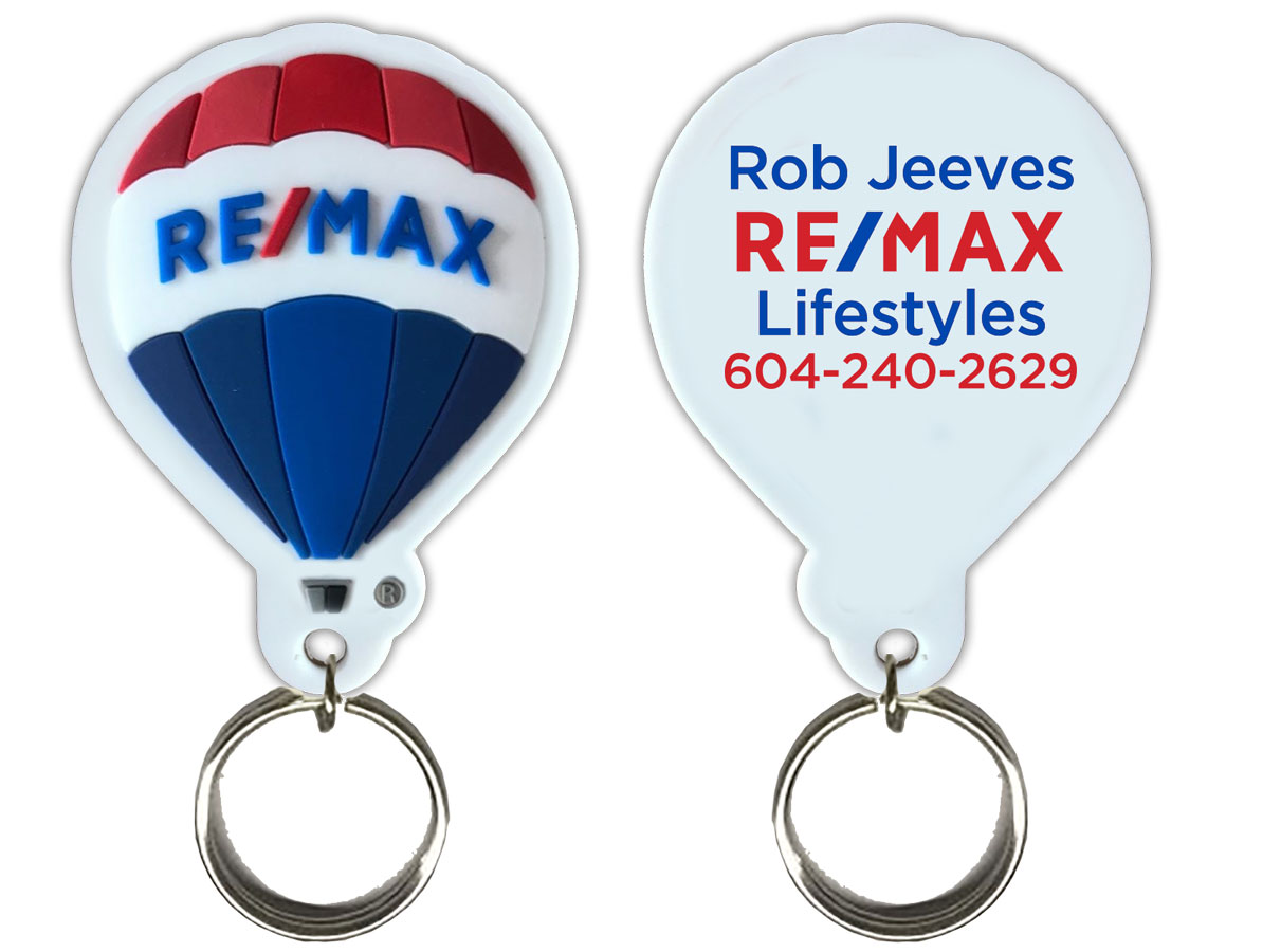 RE/MAX Balloon PVC 3D Keychain - Personalized