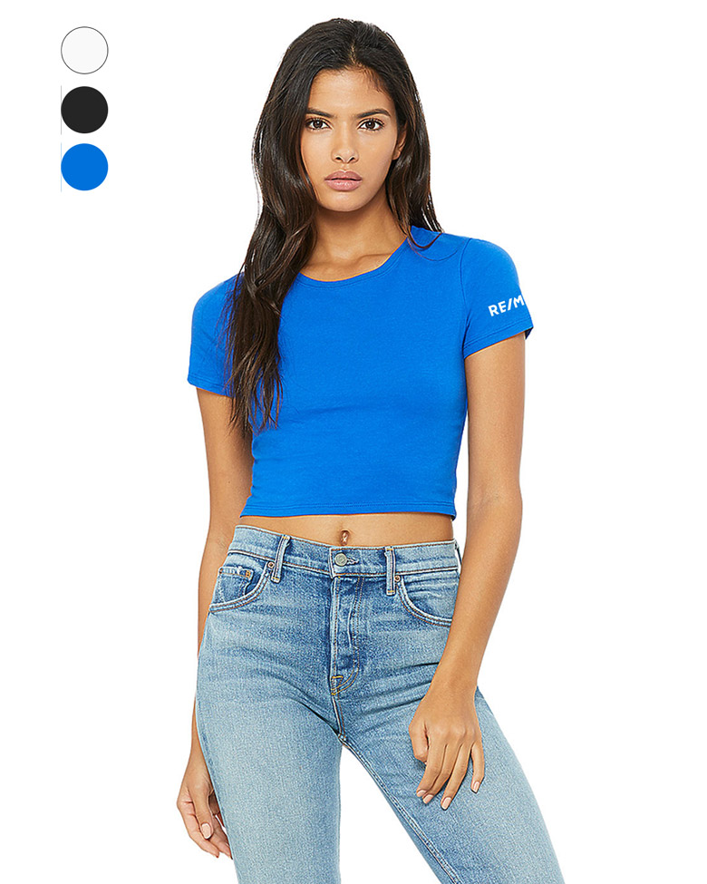 WOMEN'S POLY-COTTON CROP TEE