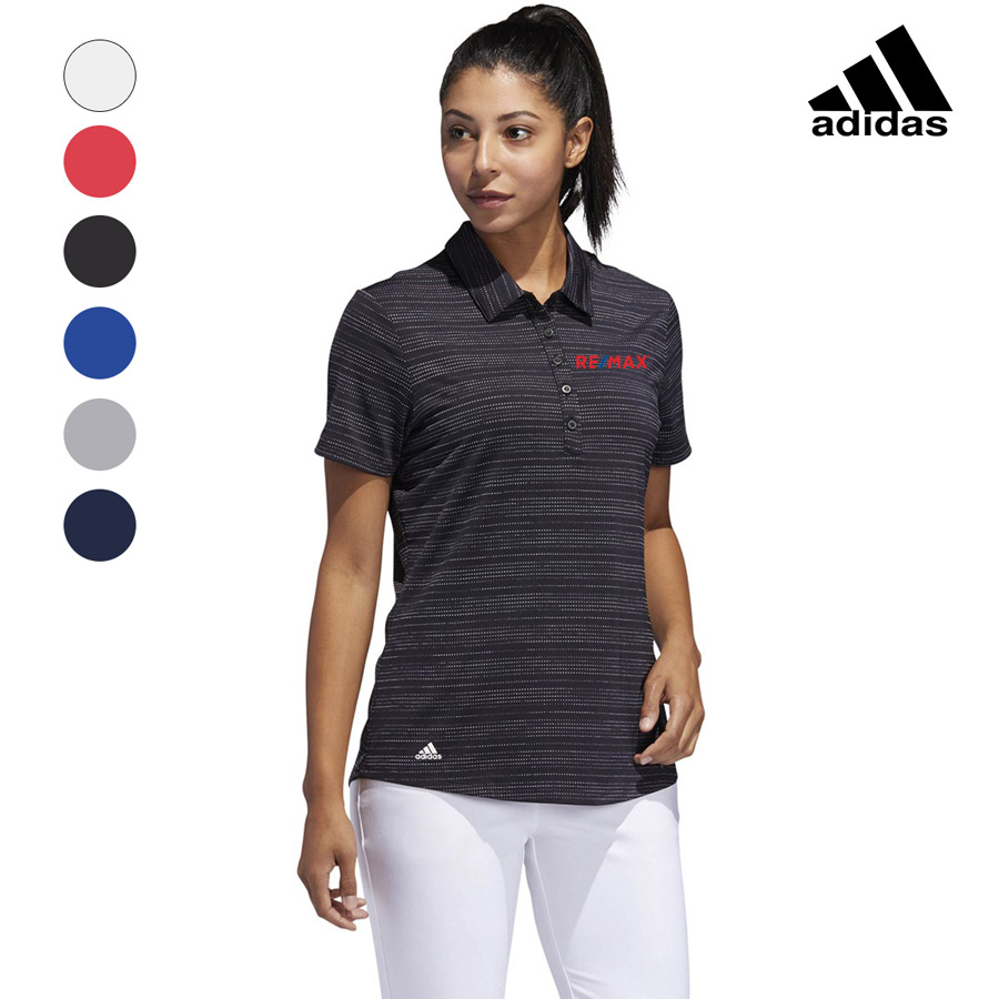 Adidas Women's Microdot Short Sleeve Polo