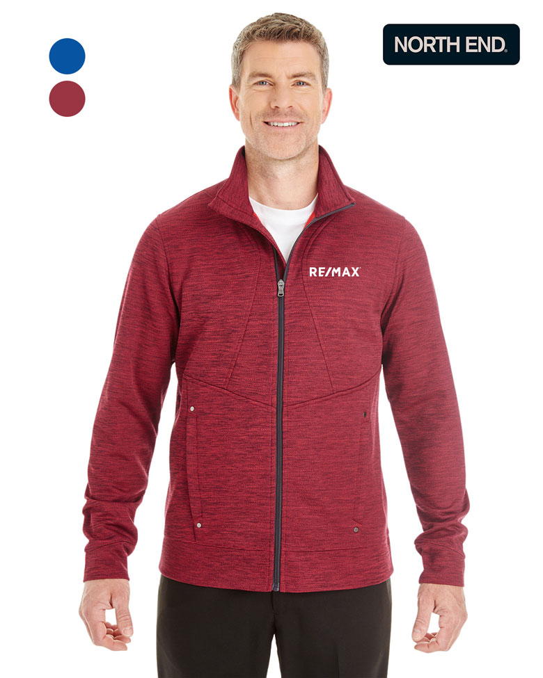 North End Men's Amplify Mélange Fleece Jacket