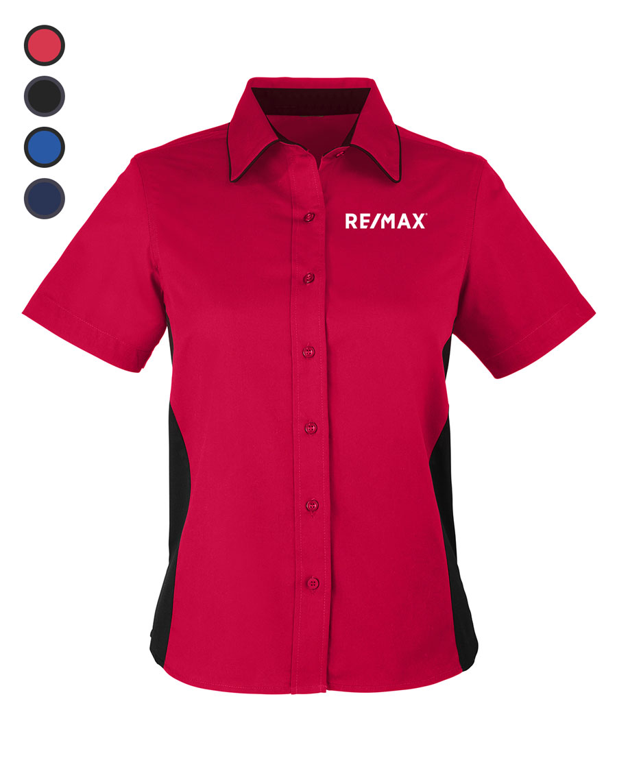 Ladies' Flash IL Colorblock Short Sleeve Shirt
