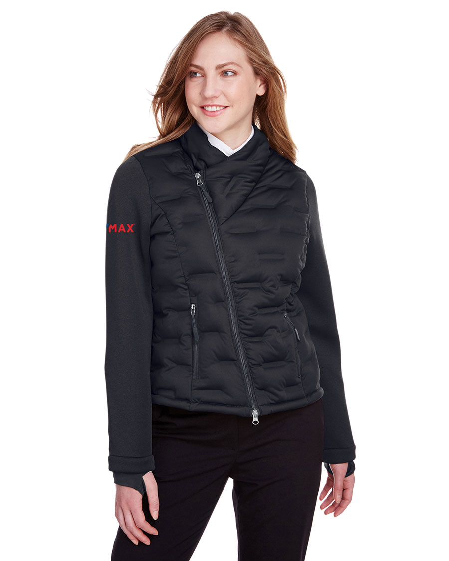 North End Ladies Loft Pioneer Hybrid Bomber Jacket