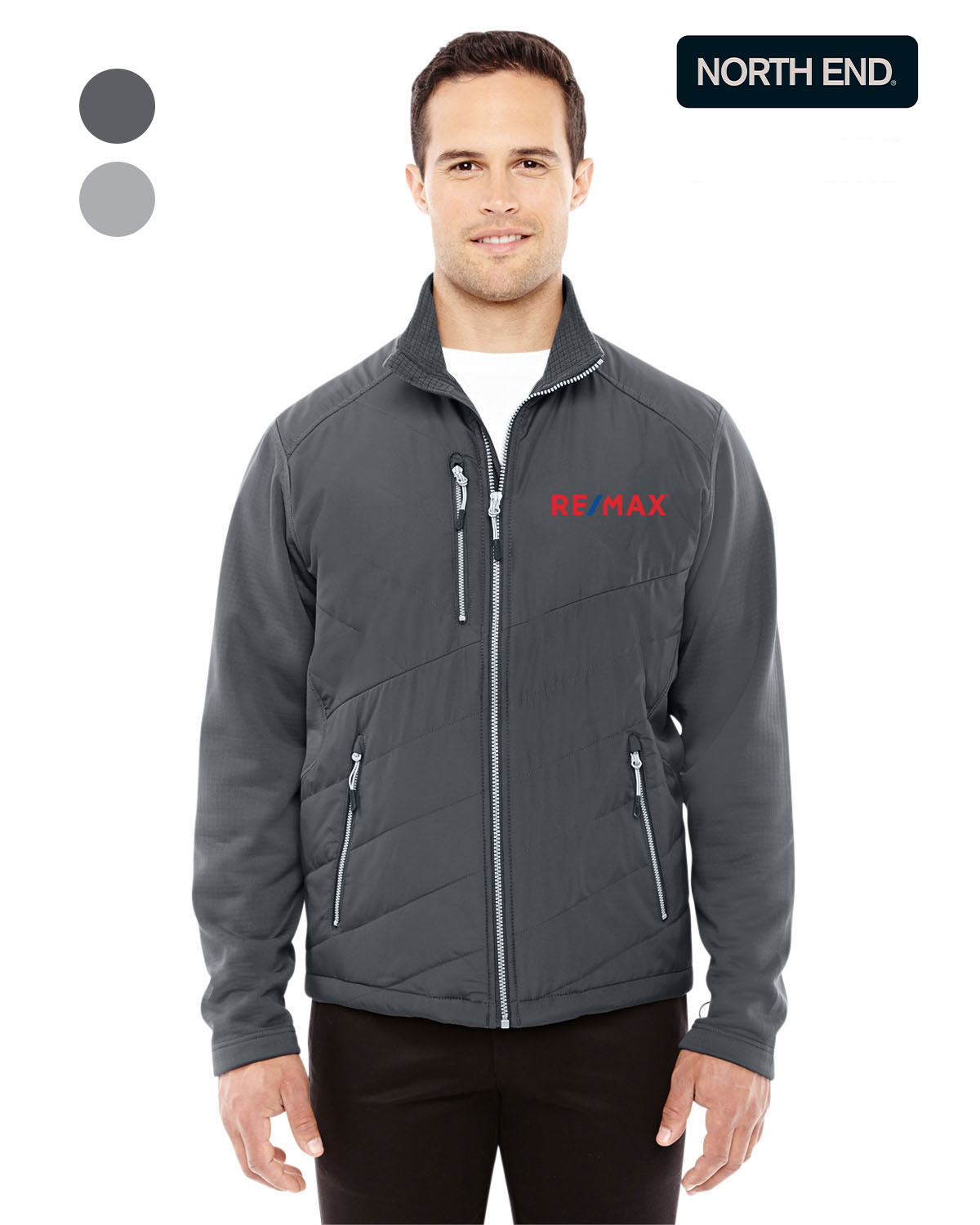 North End Men's Quantum Interactive Hybrid Insulated Jacket