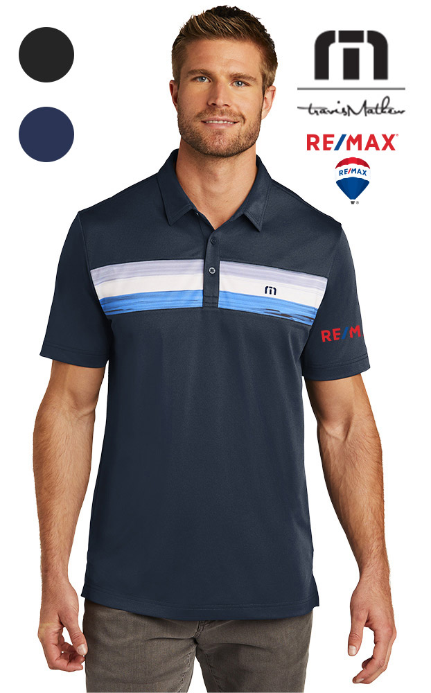 TravisMathew Cabana Chest Stripe Polo