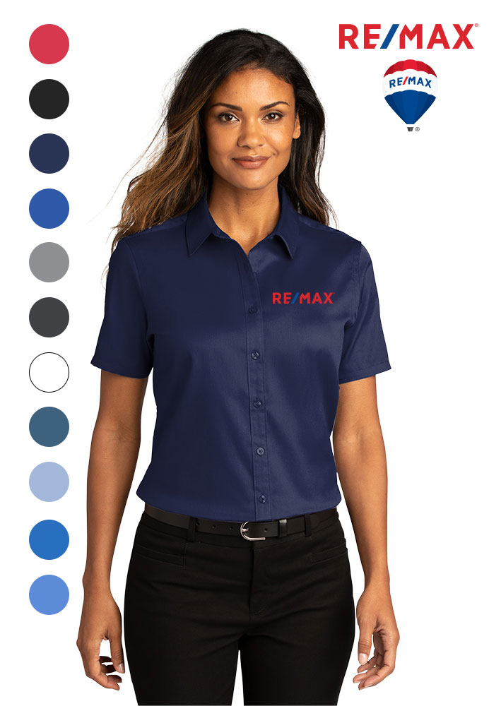 Ladies Short Sleeve SuperPro ™ React ™ Twill Shirt