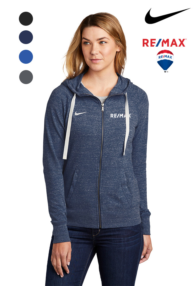 Nike Ladies Gym Vintage Full-Zip Hoodie