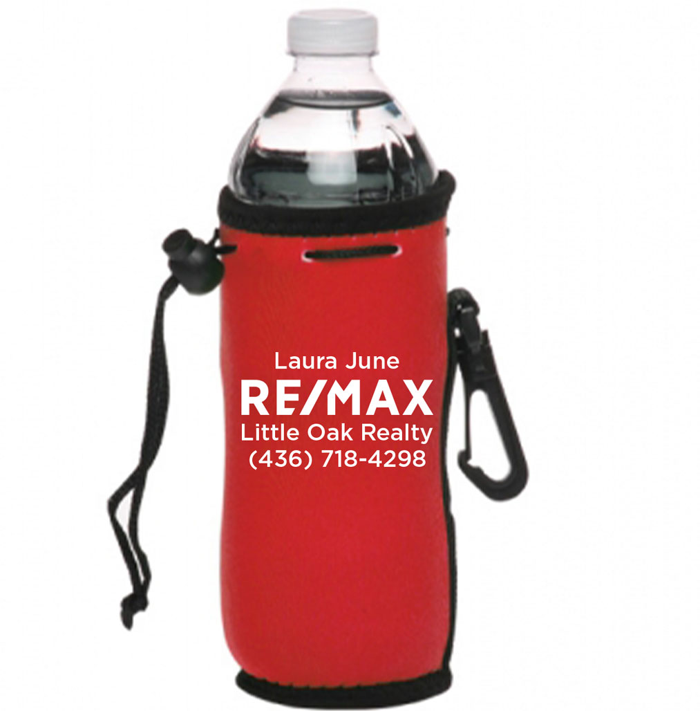 Neoprene Water Bottle Drawstring Insulator - Personalized