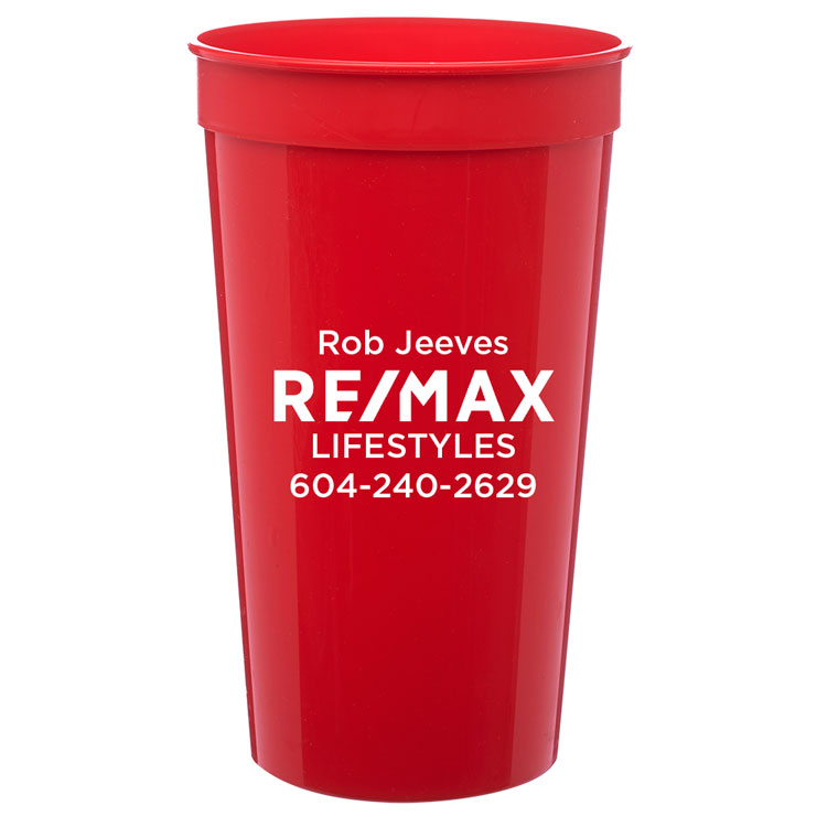 32 oz. Plastic Stadium Cup - Personalized