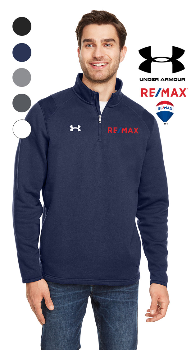 Under Armour Men's Hustle Quarter-Zip Pullover Sweatshirt