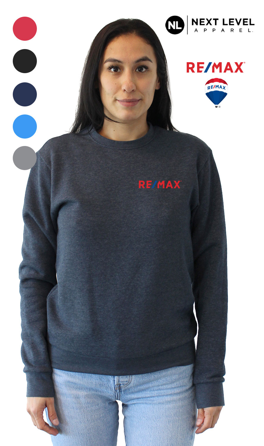 Next Level Unisex Pullover PCH Crewneck Sweatshirt