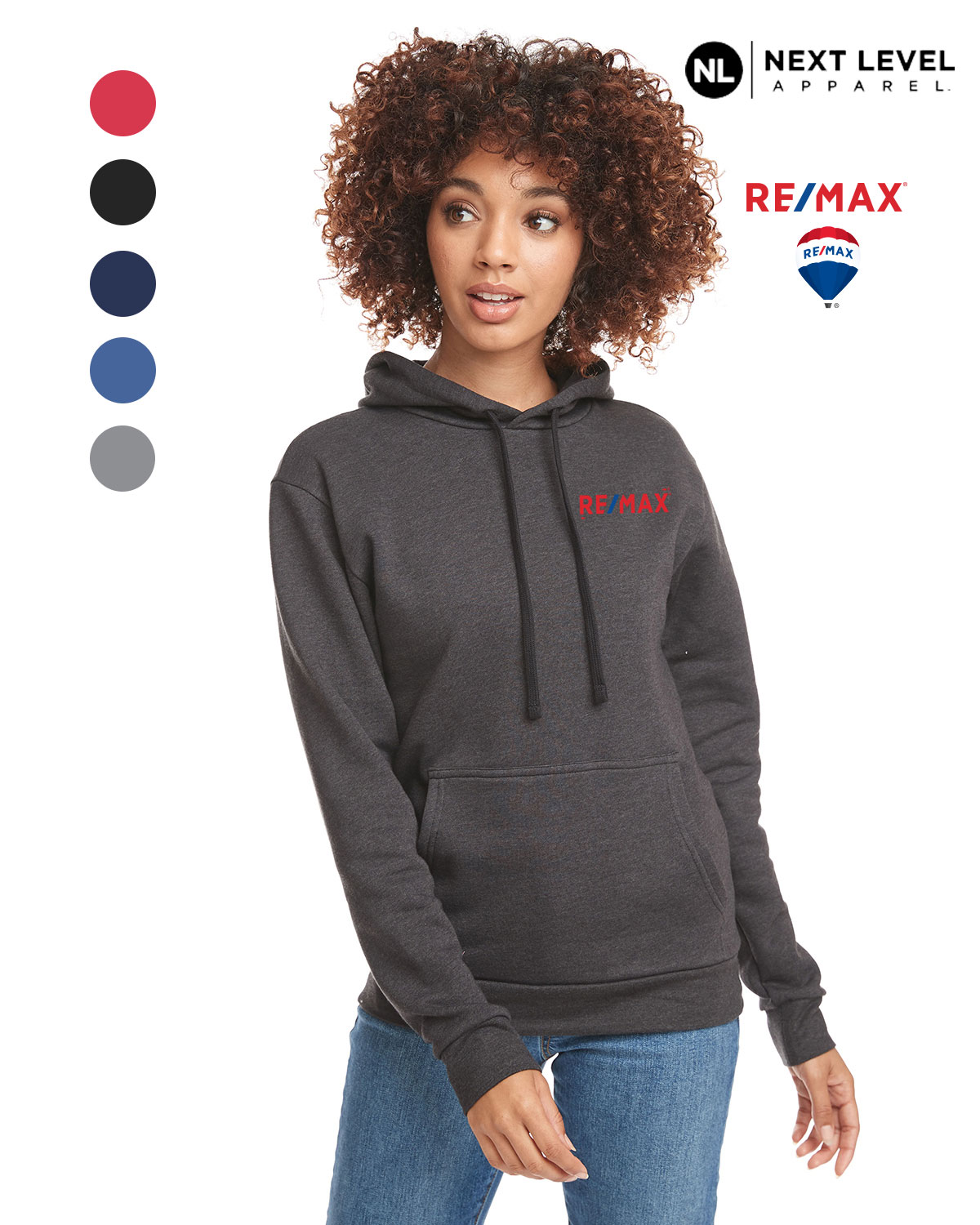 Next Level Unisex Classic PCH Pullover Hooded Sweatshirt