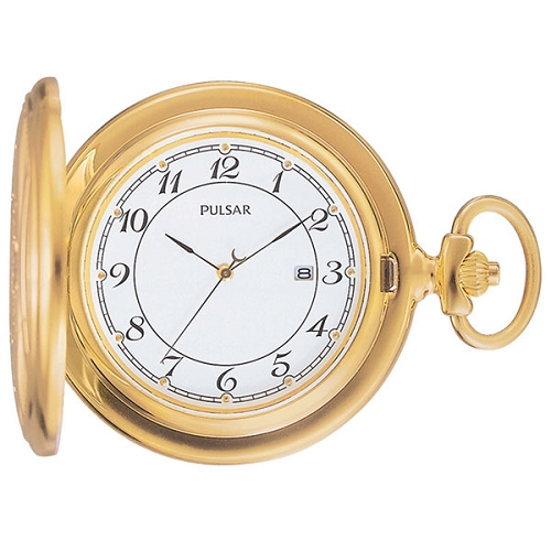 Pulsar Gold-Tone Pocket Watch