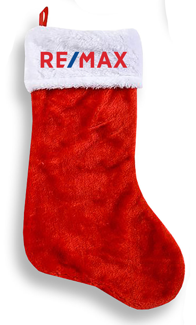 RE/MAX Super Plush Style Santa Stocking