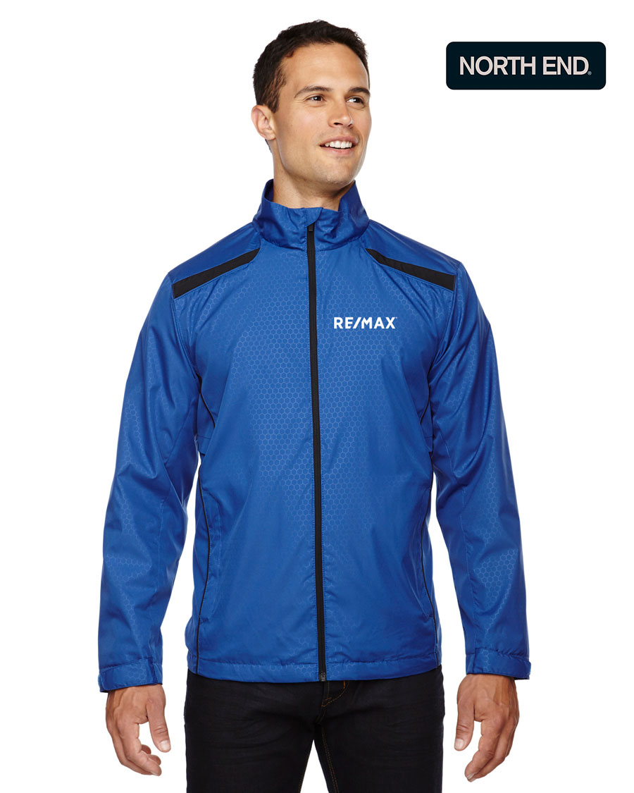 North End Men's Tempo Lightweight Recycled Polyester Jacket with Embossed Print
