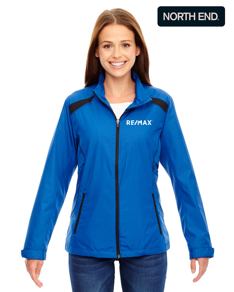 North End Ladies' Tempo Lightweight Recycled Polyester Jacket with Embossed Print